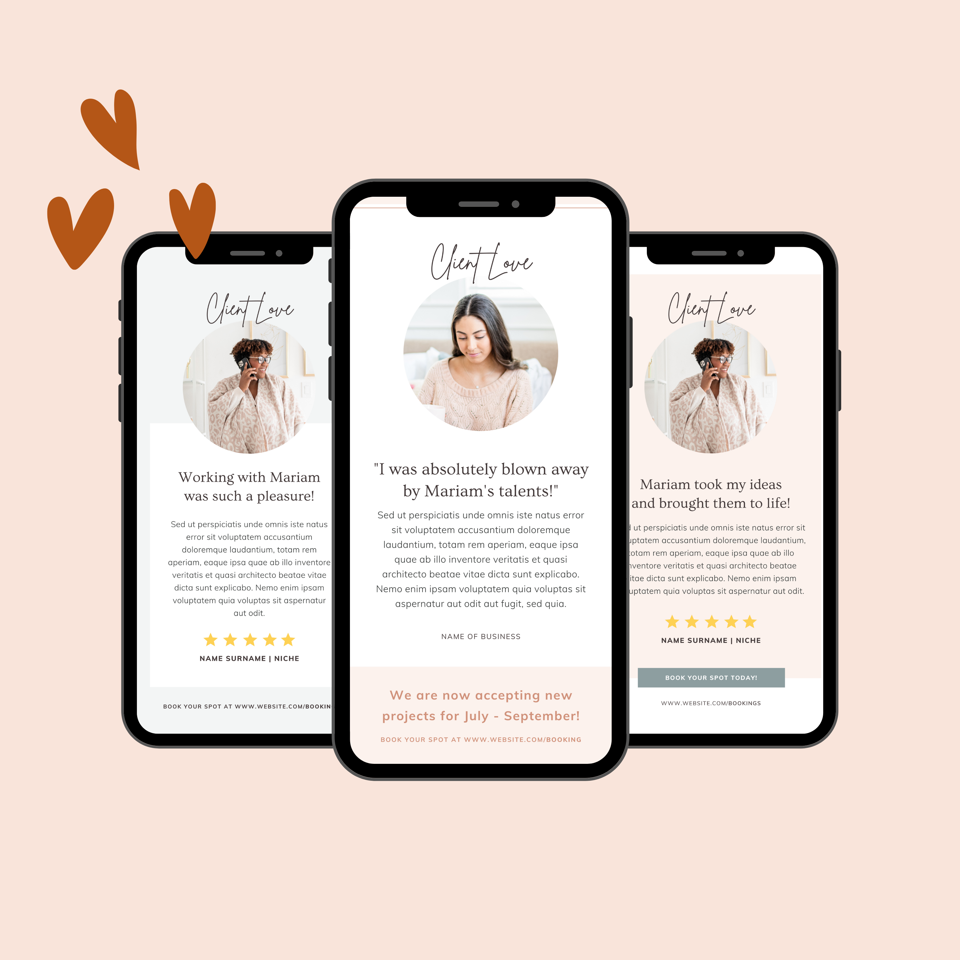 free client love canva templates opt in